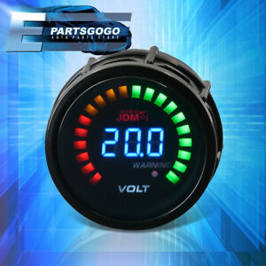 "For 240SX 300ZX 350Z 2"" 52MM JDM Voltage Volt Blue Digital LED Auto Gauge Meter"