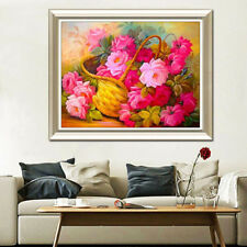 Plant Flower Basket  Cross Stitch 5D Diamond Painting Sticker Living Room Decor