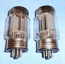 2 Beckman by Raytheon 6336A Vacuum Tubes - Ruggedized 60-Watt Twin Triodes