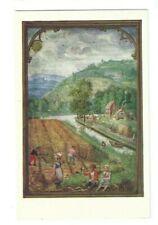 Postcard Victoria & Albert Museum August Kalendar Of Hours Simon Benninck