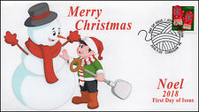 Ca18-053, 2018, Christmas, Pictorial Postmark, First Day Cover, Noel, Mittens
