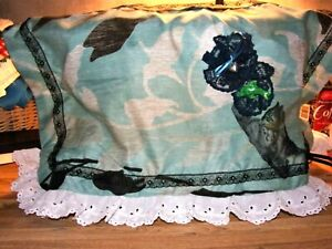 """Sewing Machine Cover with hand painted kitty cat """"going for a fish dinner"""""""