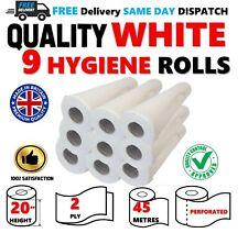 "9 Rolls PREMIUM Quality WHITE 20"" Hygiene Couch Beauty Salon GP Massage Medical"