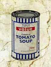 Banksy Tesco Soup plus A3 Box Canvas Print