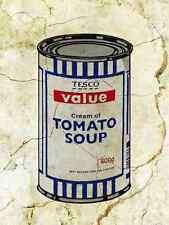 Banksy Tesco Soup plus A3 Box Canvas Print