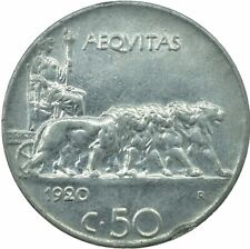 More details for coin / italy / 50 centesimi 1920r xf      #wt19451