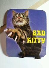 BAD KITTY PAW CLAW PURPLE  WAVE CAT ANIMAL PET STICKER