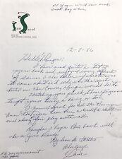 Sam Snead Hand Written Letter Signed to Golfer Doug Sanders JSA HOF Masters