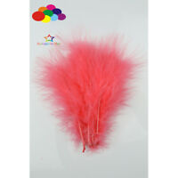 Watermelon Red Turkey Soft Fluff Feathers Dyed 6-8in/15-20cm 500pcs Diy Carnival