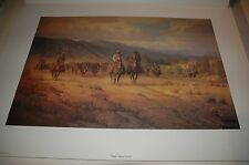 G Harvey TAKIN' TAKING TEXAS NORTH - S/N paper Limited Edition RARE 1975 Western