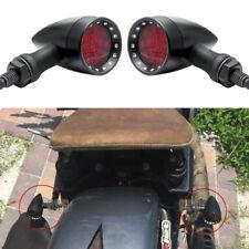 Pair Brake Running LED Turn Signal Light Red 10mm For Honda VTX Shadow Sabre ACE