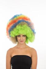 Adult/Kids Men/ Women Clown Jumbo Afro Halloween Wig Multi-Color Party H0336