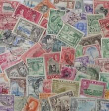 100 COMMONWEALTH STAMPS VICTORIA TO GEORGE VI  NO GB ALL DIFFERENT USED