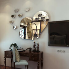 Silver Acrylic 3d Mirror Wall Sticker Home Decoration Fashion Home Decorations