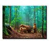 Wall Art Bears in Forest Canvas print Animal Picture Photo Painting Framed Decor