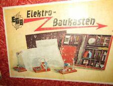 Selten: EGB ELEKTROBAUKASTEN um 1950 wohl DDR Metallbaukasten