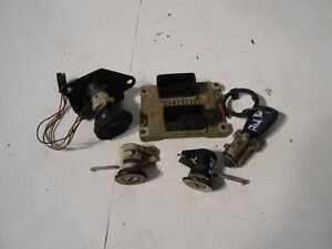 Set Zündschloß Schlüssel Schließzylinder Steuergerät Schloß Fiat Punto Typ 188