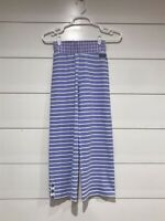 NWT Matilda Jane Leggings Blue with White Stripes Size 8