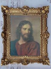 Gemälde Wandbild Gott Jesus Christus Wand Bild mit Rahmen BAROCK 56x46 cm NEU