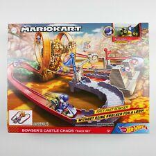 Hot Wheels Mario Kart BOWSERS Castle Chaos RARE Inverted Blue Yoshi Track Set