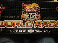 2003 Hot Wheels Nationals Red Line Club Hwy 35 World Race Zamac Boxed Set of (5)