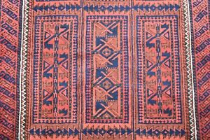 Terrific Antique Rare Turkoman Tribal Collector's Piece Distressed Low Pile Rug