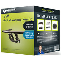 Anhängerkupplung WESTFALIA abnehmbar VW Golf VI Variant +Elektrosatz AHK NEU ABE