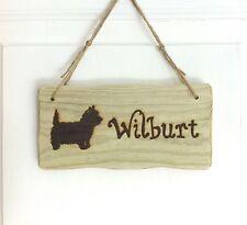 Detriti stile personalizzato in legno CANE GATTO PET Kennel nome Sign Targa