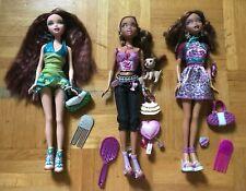 My Scene 3 Dolls Lot Bambole Muñecas Puppen Chelsea Medison Charming Mattel Doll