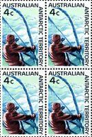 Australian 1966 MNH Block 4x 4c First Decimal Antarctic Territory Stamps Issued