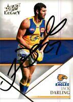 ✺Signed✺ 2018 WEST COAST EAGLES AFL Premiers Card JACK DARLING