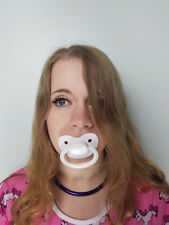 Adult Pacifier Soother Dummy from the dotty diaper company White