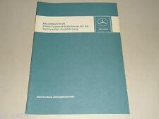 Werkstatthandbuch Einführung Mercedes Benz PKW m. Motor 110 115 MJ 1976 Schweden