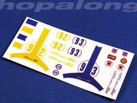 Scalextric/Slot Car 1/32 'Lotus Ford' Waterslide Decals. ns002
