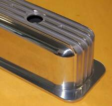 Sbc Small Block Chevy Aluminum Valve Covers Tall Finned Center Bolt Vortec