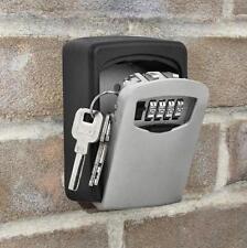 Wall Mount Safe Key Storage Box Security Lock 4 Digit Combination Code Antirust
