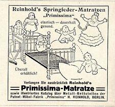 """H. Reinhold Berlin """"RPIMISSIMA"""" Springfeder-  Matratzen Historische Reklame 1917"""