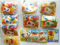 """Spielzeug Komplettsatz """" Kinder CREATE - Stempelhand """" 2010/11 mit allen BPZ"""