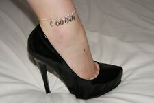 Premium 'COUGAR' Anklet Ankle Chain Jewellery Hotwife Fetish Jewelery Milf Older
