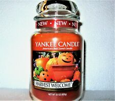 """Yankee Candle """"HARVEST WELCOME"""" Halloween~Autumn ~Large 22 oz ~WHITE LABEL~ RARE"""