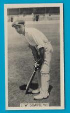 WILLS 1929 CRICKET SEASON J.W.SCAIFE (Vic) CIGARETTE CARD