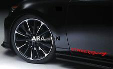 STREET Racing Vinyl Decal sport sticker emblem car logo door RED