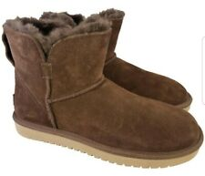 KOOLABURRA UGG WOMAN BOOTS BROWN SUEDE ANKLE SIZE 39/8 NEW