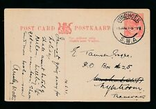 SOUTH WEST AFRICA 1921 KG5 SA STATIONERY 1d to TRANSVAAL