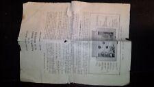 National Radio NC-33 Communications Ham Radio Receiver Tube 4 B  Original Manual