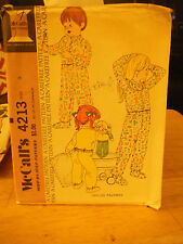 McCall's 4213 Child's Pajamas Pattern - Size 5 Chest 24
