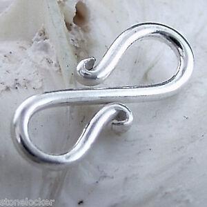 E15 S-Haken 15mm SILBER 925 Verschluss f. Kette u. Armband silver clasp 15mm E15