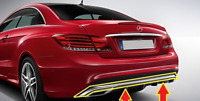 Genuine MB E CLASS COUPE W207 AMG Style Rear Bumper Chrome Trim A2078852521 OEM