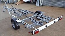 New 1500kg Multi Roller Boat Trailer Swing Beam Powerboat Rib Fishing Cruiser