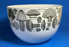 Mid Century ARABIA Finland large enamel MCM bowl KAJ FRANCK mushrooms-EUC